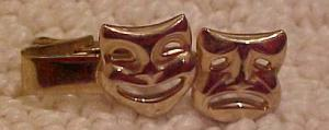 Comedy and Tragedy Tie Clip (Image1)