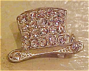 2 rhinestone top hat pins (Image1)