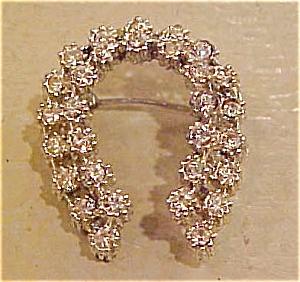 Rhinestone horseshoe pin (Image1)