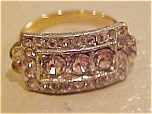Art deco style ring with rhinestones (Image1)