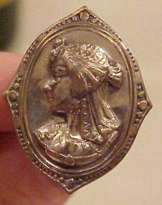 Art nouveau hat pin (Image1)
