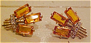 1940's retro earrings with rhinestones (Image1)