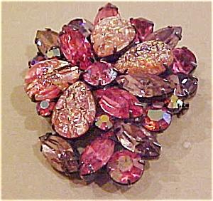 Pink rhinestone Brooch (Image1)