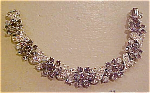 Lisner smoke & Clear rhinestone bracelet (Image1)