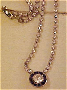 Black/clear rhinestone necklace (Image1)