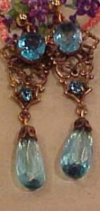 Czechoslovakian revival earrings (Image1)