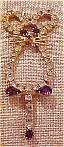 Rhinestone cat pendant (Image1)