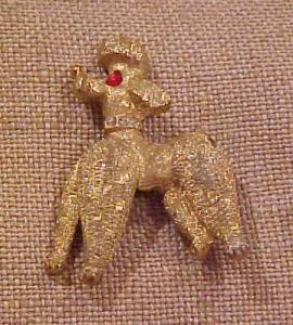 Poodle pin with rhinestones (Image1)