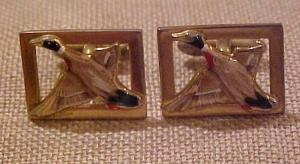 Swank mallard duck cufflinks (Image1)