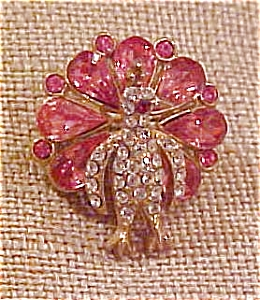 Peacock pin with rhinestones (Image1)