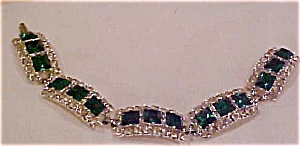 Green and Clear rhinestone bracelet (Image1)
