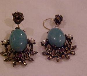 1960's Victorian Revival Earrings (Image1)