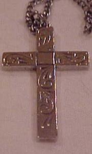 Engraved Cross On Necklace