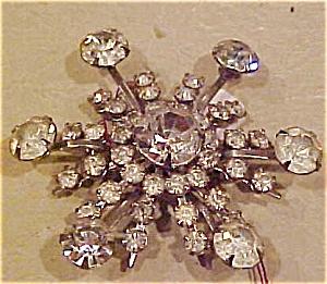 Rhinestone snowflake pin (Image1)