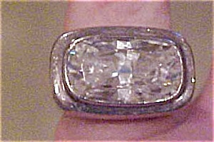 Sterling ring with Cubic Zirconia (Image1)