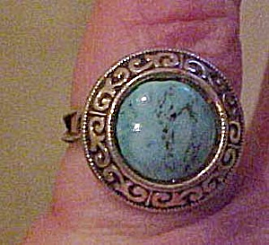Sterling ring with turquoise (Image1)