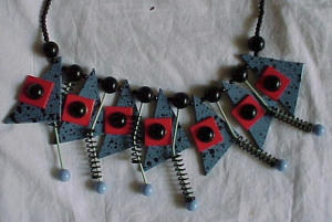 Cool Abstract necklace 1980's (Image1)