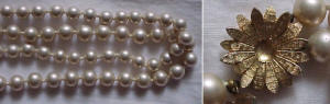 Double strand faux pearl necklace (Image1)