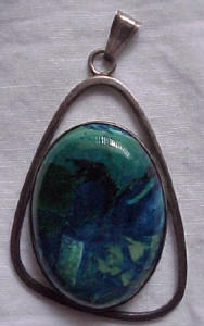 Sterling Pendant with stone (Image1)