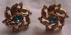 retro style rhinestone earrings (Image1)