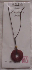 Zen style necklace w/semi precious stone (Image1)