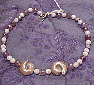 Amethyst and sterling necklace (Image1)