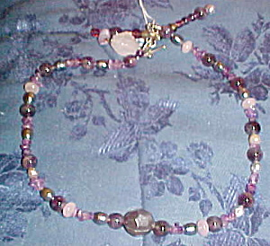 amethyst, fresh water pearl necklace (Image1)