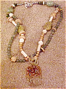 Necklace with jade pendant (Image1)