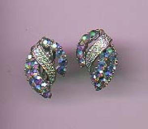 Coro aurora borealis rhinestone earrings (Image1)