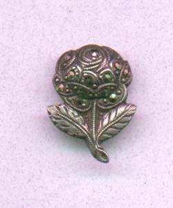 Marcasite flower pin (Image1)