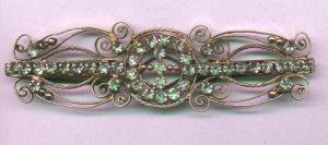 Victorian barrette with rhinestones (Image1)