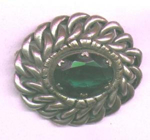 Joseff silverpin with green glass (Image1)