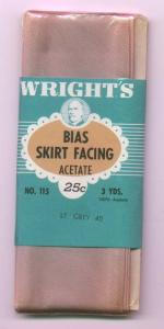 Wright's bias skirt facing in original package (Image1)