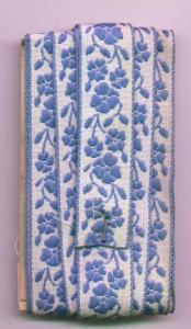Blue and white floral trim (Image1)