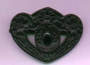 Victorian mourning sash ornament brooch (Image1)