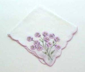 Lavender embroidered lilac handkerchief (Image1)