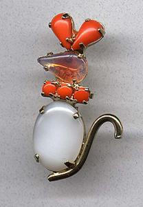 Cute rhinestone mouse pin (Image1)