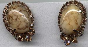 topaz, aurora borealis rhinestone earrings (Image1)