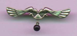 Sterling art nouveau pin (Image1)