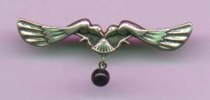 Sterling art nouveau pin (Image1)