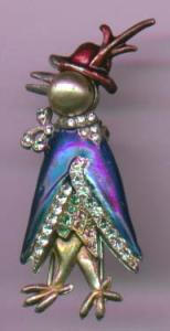 enamel and rhinestone duck fur clip (Image1)