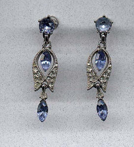 Bogoff rhinestone earrings (Image1)