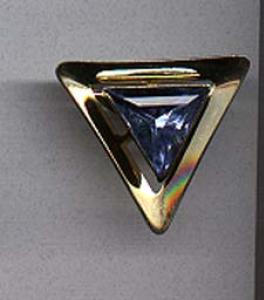 Emmons goldtone pin with lt blue rhinestone (Image1)
