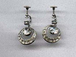 Clear dangling rhinestone earrings (Image1)