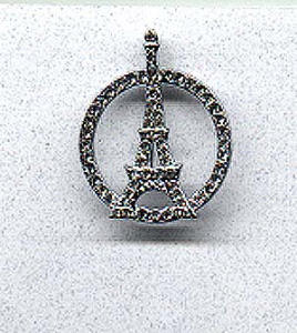 Rhinestone Eiffel Tower pin (Image1)