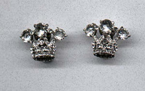 crown design rhinestone earrings (Image1)