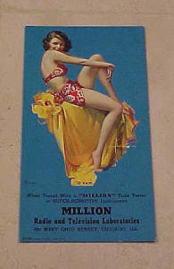 Million radio & TV lab pin up card (Image1)