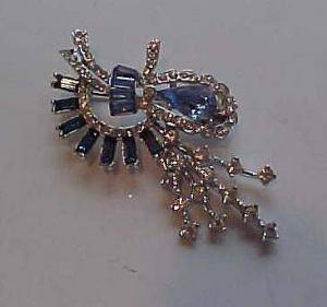 Lt Blue & Clr rhinestone retro style pin (Image1)