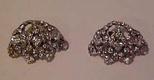 Sterling rhinestone earrings (Image1)