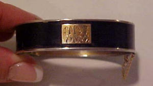 R & G Co bangle w/black enameling (Image1)